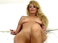 Hot Milf fucking herself with a machine