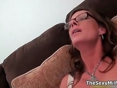 Hot blonde milf goes crazy getting her tits rubbed and
