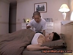 Mature bigtit miki sato masturbating on a bed 1 by japa