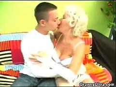 Cock Sucking Granny In Lingerie
