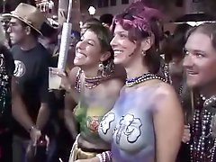 Girls Flashing Nude In Public At Fantasy Fest 2001