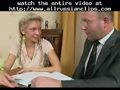 Young Babe With Teacher Russian Cumshots Swallow