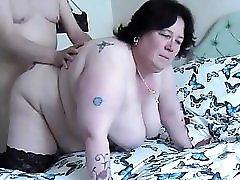 Fucking BBW doggy swinging tits2