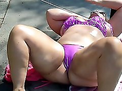 Bbw Ursula Gets Oiled Up