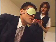 Asian Student Ties Up Her Teacher