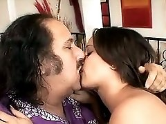 Ron Jeremy Loves To Fuck This Sexy Young Dark Haired Girl With Perky Little Tits