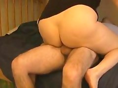BBW's Snatch Oozes Cum After Riding Cock