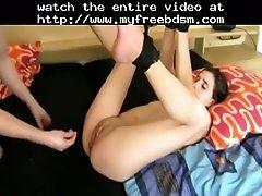 Young Hottie Fisted In Bondage BDSM Bondage Slave Femd