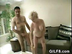 Granny Invites Him In For Some Fun
