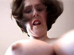Busty hairy Mature secretary loves to pose