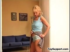 Mature Blonde Gets Undressed