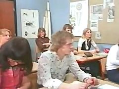 Vintage Lesson in lust Orgy in classroom Camaster