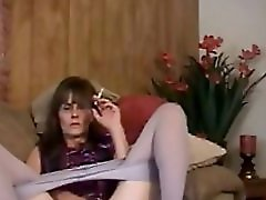 Smoking Mature Slut Fingering