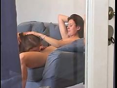 Step Sister Lesbian Session Spycam