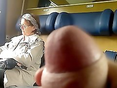 Train Dick flash to Mature with Cum