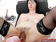 Spiky Looking Housewife Getting A Gyno