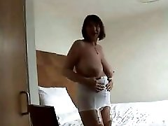 Upskirt Stripshow Hairy Granny