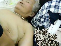 80yr old Japanese Granny Still gets Creamed Uncensored