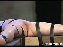 Bound Pussy Whipped Clamped And Toyed
