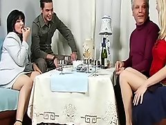 Mature and Young Couples Swap