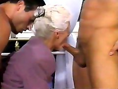2 MEN AND A DOUBLE PENETRATION FOR GRANNY