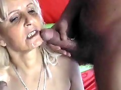 Blonde Hungarian Granny Fucked By 2 Men Dp