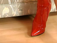 Nicoletta Blue Red Boots