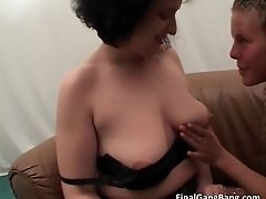 Two Nasty MILF Hoes Suck Hard Cock And Get Pounded Grea