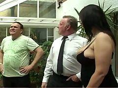 Chubby British Big Boobs Threesome