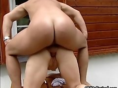 Dirty Blonde Mature Mom Gets Fucked Anal By A Young Coc