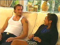 Sabrine Maui Asian Schoolgirl Meets Big Cock