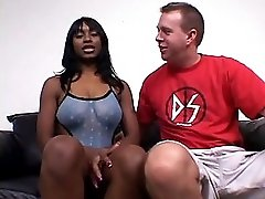 Ghetto Whore Gets On Knees And Sucks White Cock