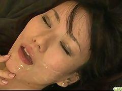 Cute Asian Cougar Manami Komukai Threesome Action