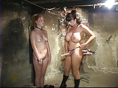 Young Whore Sucks A Large Strap On Weared By Mistress
