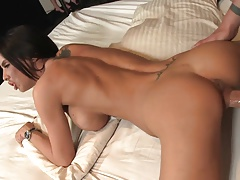 Stunning MILF Brandy loves licking hot cum after banging