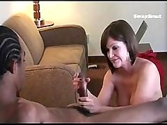 Guy coaches his horny wife on how to fuck his buddy while he films her!!