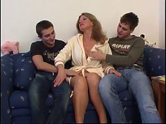Busty Mom Fucked By Two College Boys