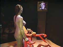 Big tit blonde gets a load from hung guy