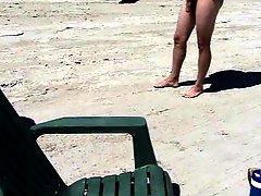 Beach dogging creampie