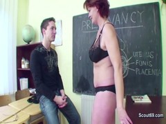 Milf Teacher Show Young Boy How Woman Get Pregnant