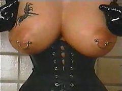Hot leather fetish slut