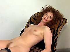 German Redhair amateuer Milf plays withe here Sex Toy