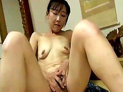 Japanese Granny Has Finger Fun