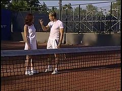 I'll teach you how to play Tennis Double Penetration