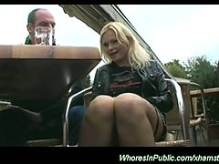 Young Nymph Rides Boner On Park Bench