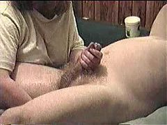Prostate massage with cumshot