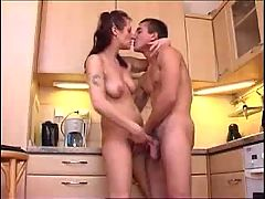 Sex on a Sunday morning in the kitchen