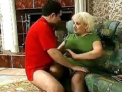 Blonde Grannie punishment turns into sex