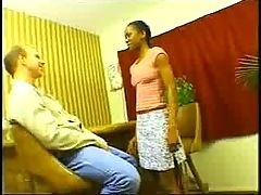 Ebony Teen Cafe And 10 Inch White Cock