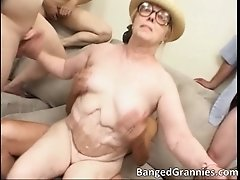 Nasty Brunette MILF Whore Gives Great Deep Blowjob To B